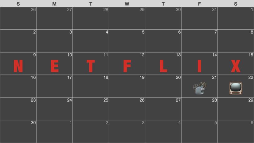 Netflix (ネットフリックス) 配信終了予定カレンダー